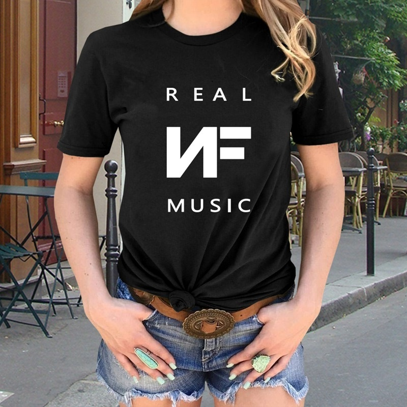 New Fashion Rap Singer Nf T-Shirt Personality Design Print T Shirt Cool Pullover Tops