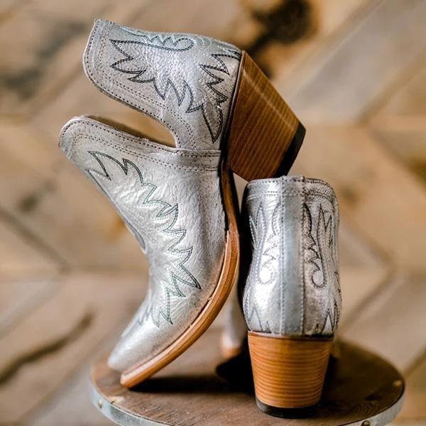 Bonnieshoes Cut-out Western Booties