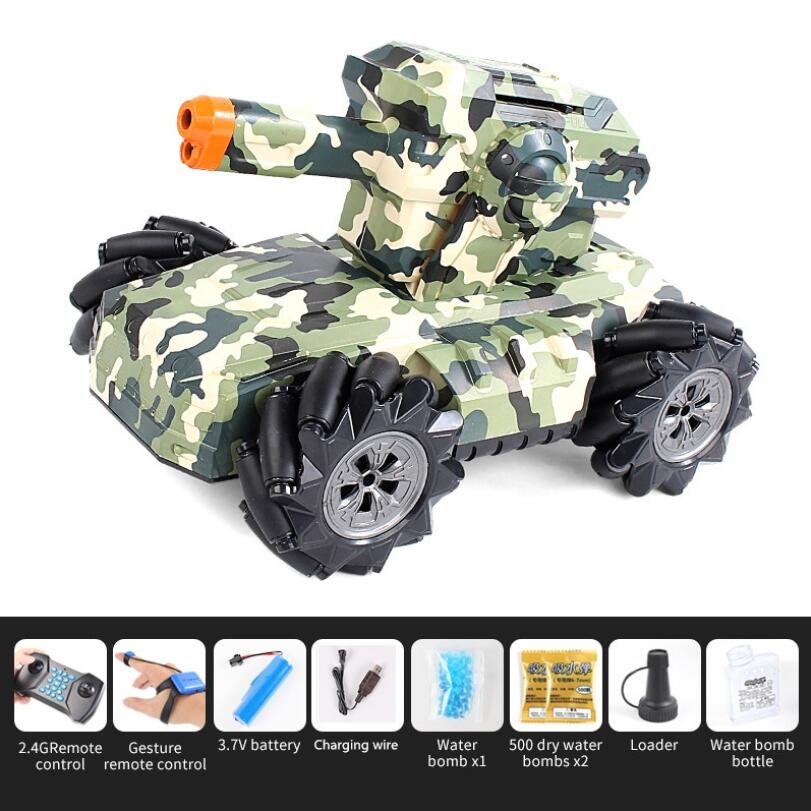 UK2075 1:16 Simulation RC Military Tank Launch Water Bomb Armor Interactive Battle