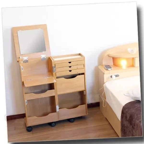 Bedroom Small Folding Clamshell Cabinet Table