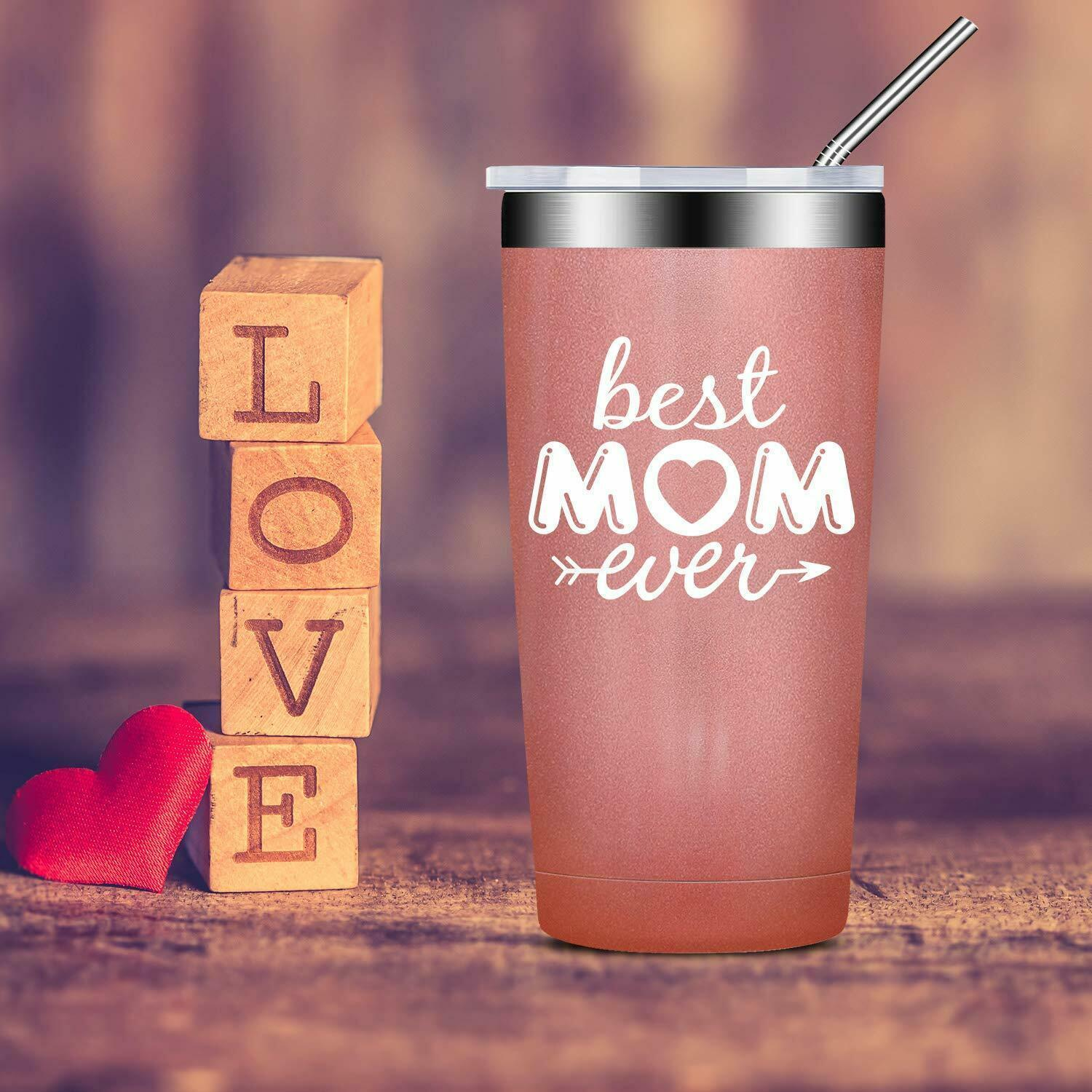 Best Mom Ever, Birthday Gifts for Mom from (Best Mom Ever-Rose Gold, 20 oz)