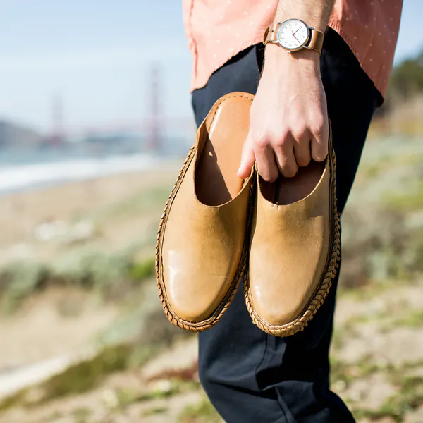 Comfy Natural Crepe Rubber Sole Loafers