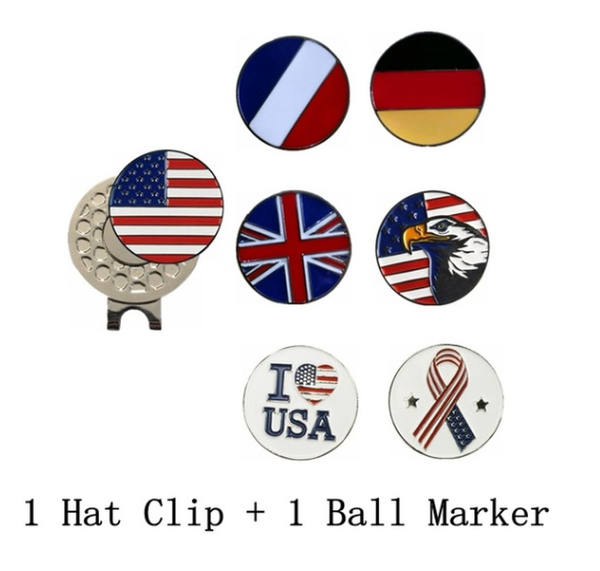 Golf Club Ball Marker and Magnetic Golf Hat Clip