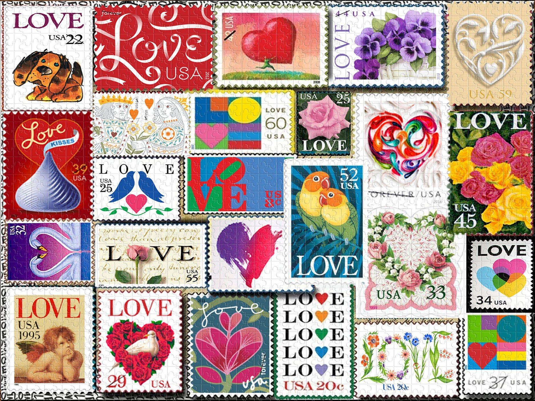 Love Stamps - Puzzle Jigsaw 1000 PCS
