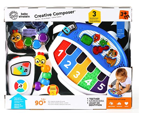 Baby Einstein Creative Composer Musical Toy Gift Set, Ages 3 Months +