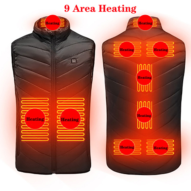 ⚡Just 3 Secs-Warm You Up⚡ 2020 Upgrade Unisex 9 Areas Heated Vest (Buy 2 Free Shipping)