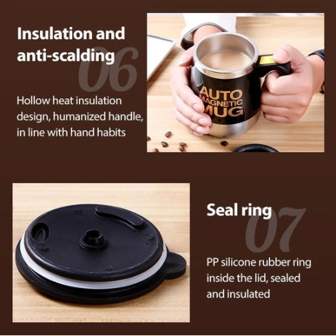 STAINLESS STEEL AUTOMATIC MAGNETIZED MIXING CUP™