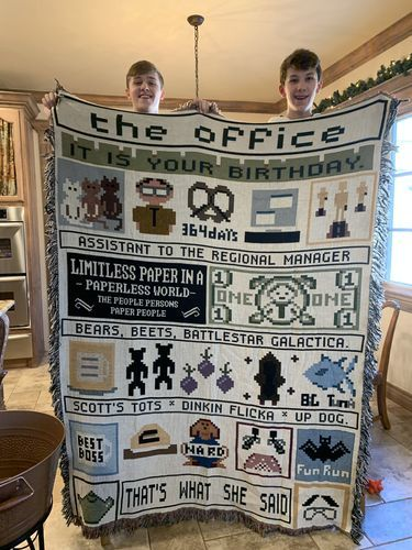 The Office Blanket, Office, Woven Cotton, Size S-L