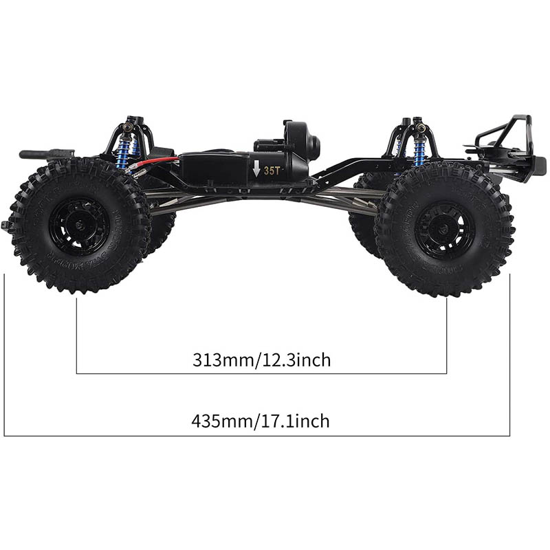Assembled Frame Chassis for 1/10 RC Crawler SCX10 II 90046 90047,SCX10 II (with Wheels)