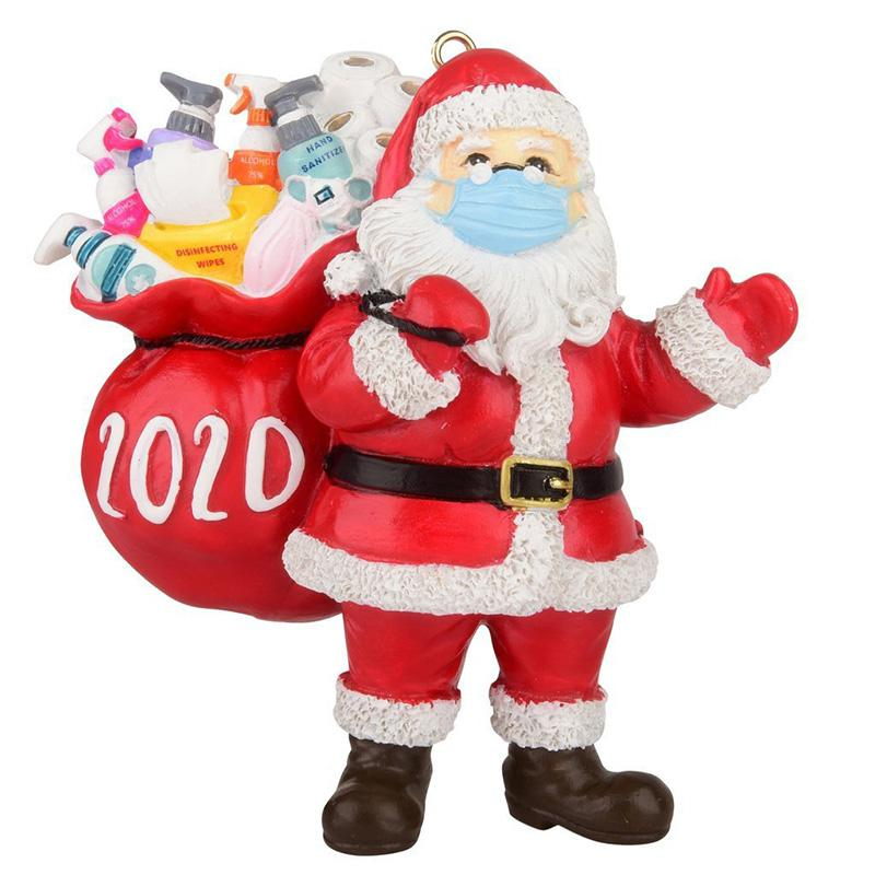 Only $6.99-2020 Christmas Ornament Santa Wearing