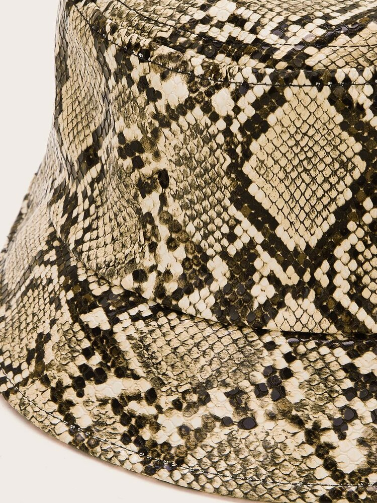 Snakeskin Pattern Bucket Hat