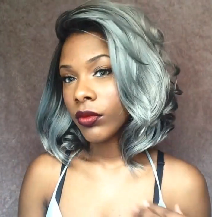 【INS】 Hot sale wig cold gray wig (available in three colors)