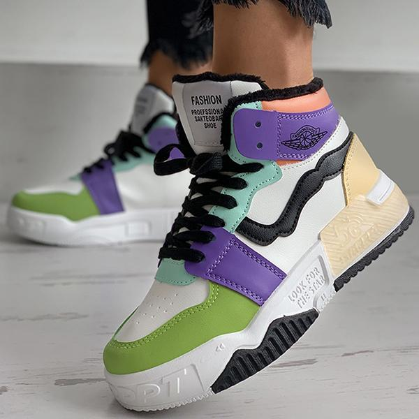Mokoshoes Colorblock Lace-Up Sneakers