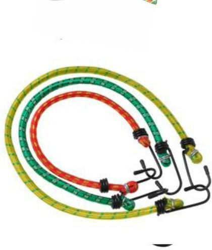 CheckSums cycle bike rope with hook elastic rubber 1 mt multicol(Length: 200 m, Diameter: 11 mm)