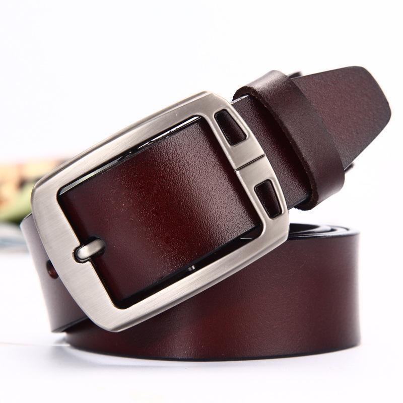 Men's Vintage Business Cow Leather Pin Buckle Belts