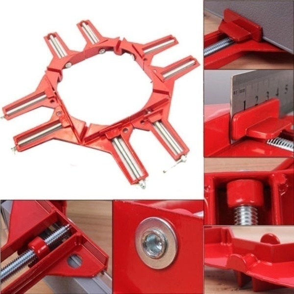 1/2/4Pcs 90 Degree Right Angle Clamp Miter Picture Frame Woodworking Clamps Corner Holder Clamp Clip