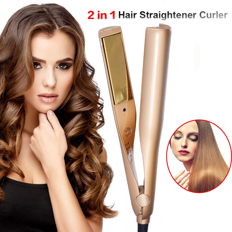 (60% OFF - Holiday Promotion) 2 in 1 Hair Curler and Straightener