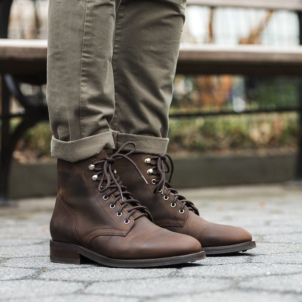 President Vintage Genuine Leather Outdoor Boots