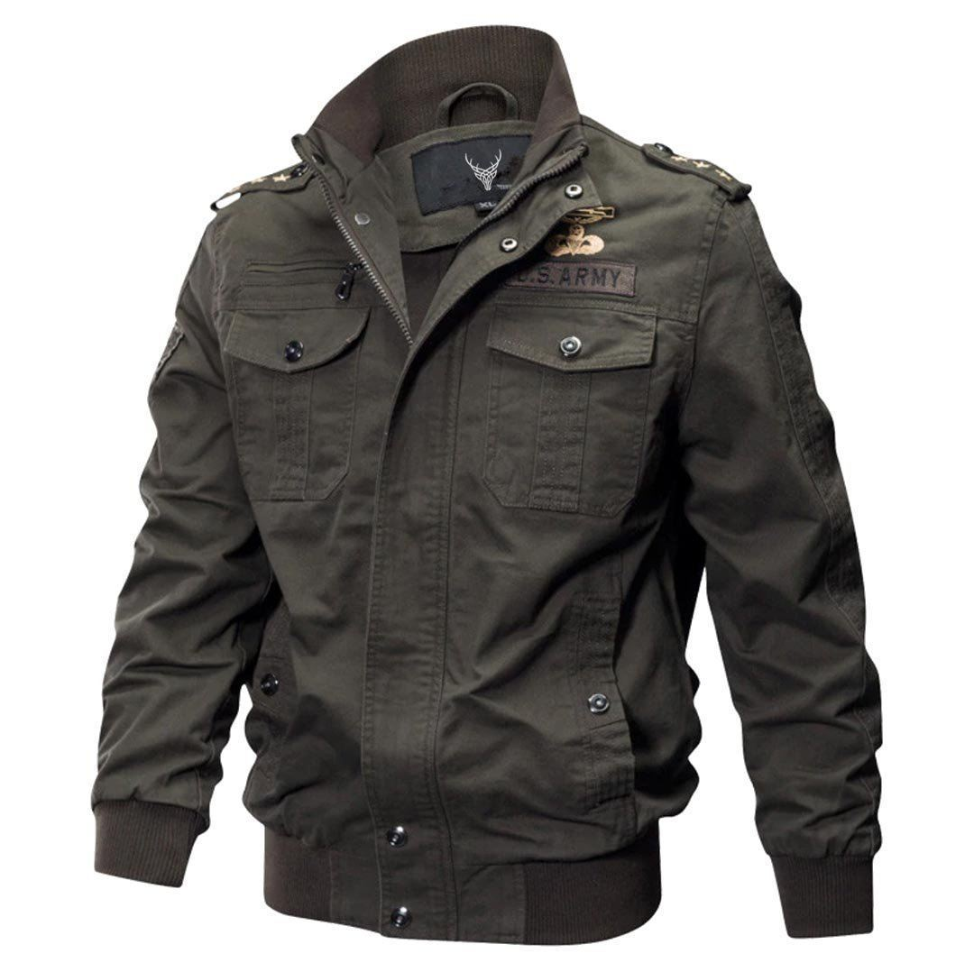 Outwear Military Style Cotton Jacket