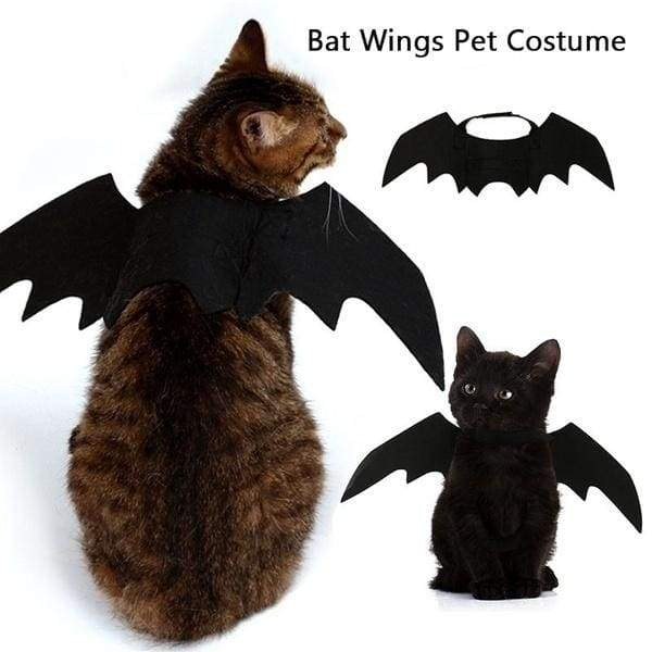 New Cute Pet Clothes Black Bat Wings Harness Costume for Halloween Cosplay Cat Dog Halloween Party for Pet Supplies