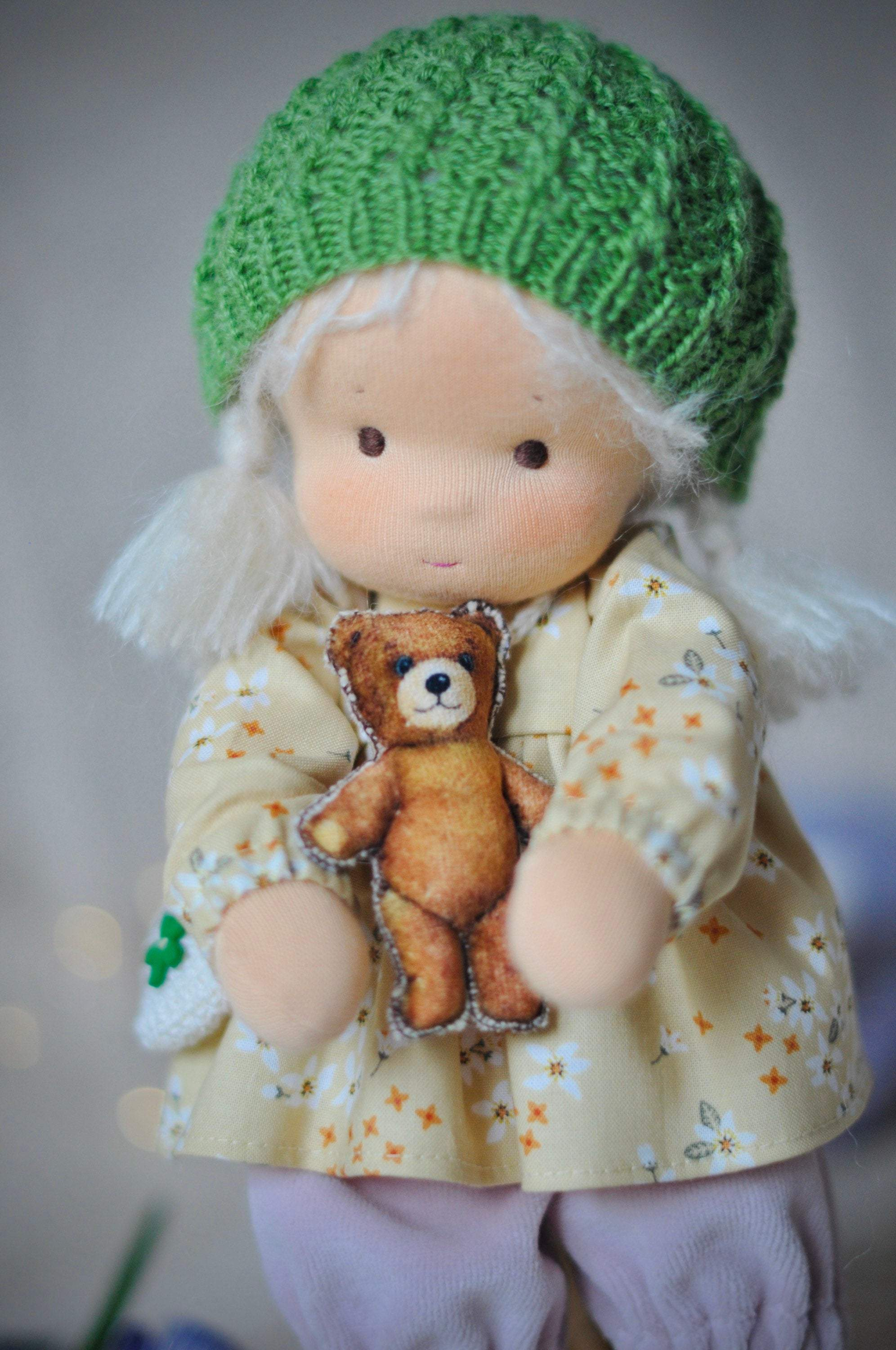 Textile Waldorf Doll Baby Dandelion MADE TO ORDER Вirthday Gift / Doll With Clothes(PRE ORDER.NEXT SHIPPING DAY 7 DAYS)
