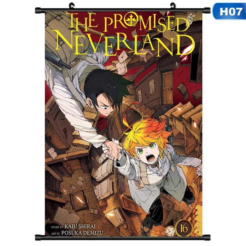 Anime The Promised Neverland Scroll Painting Home Decor Poster