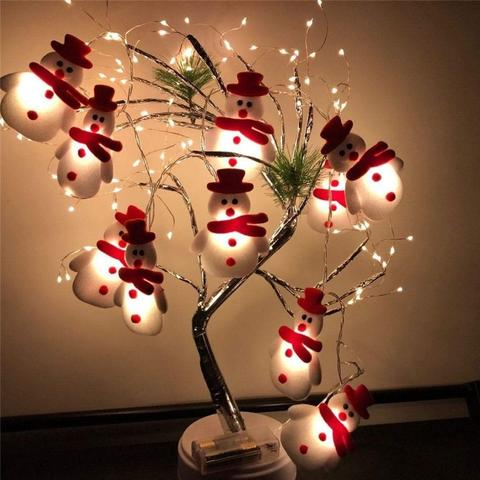 SNOWMEN LED CHRISTMAS STRING LIGHTS