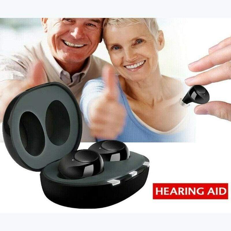 Mini Rechargeable ITE Hearing Aid Digital Adjustable Tone for Sound Amplifier Hearing Aid for The Elderly Hearing Loss