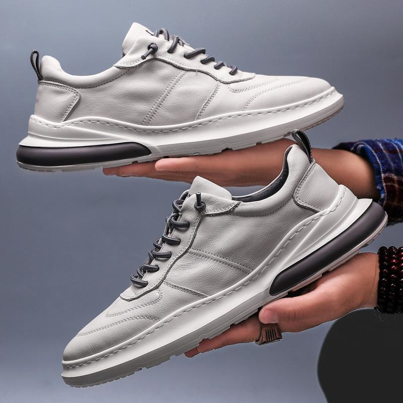 USA Men's Sneakers Leather Air Cushion Shoes Tide Rubber Sole