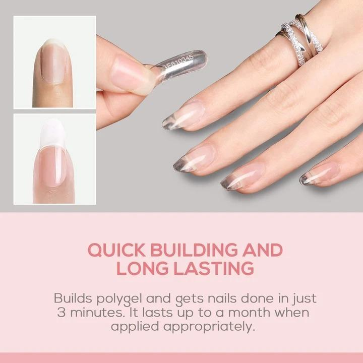 【Last Day Promotion & On-Time Delivery】Mobray Easy PolyGel Nail Lengthening Kit