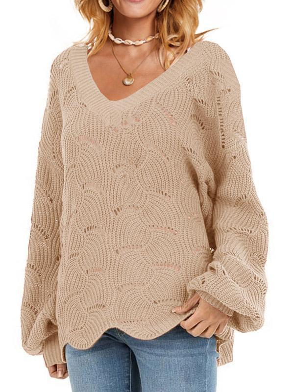 Bonnieshoes Exquisite Hollow Pattern Sweater