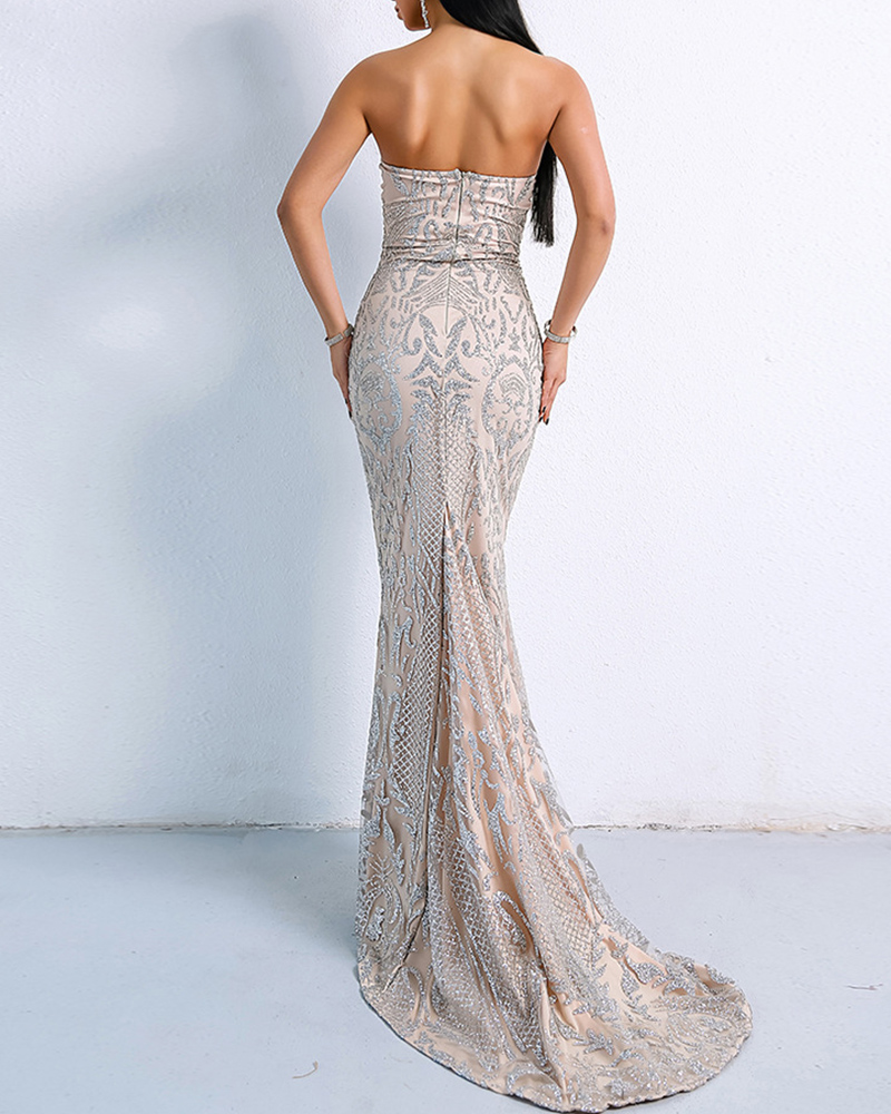 Sexy Tube Top Off-The-Shoulderevening Dress