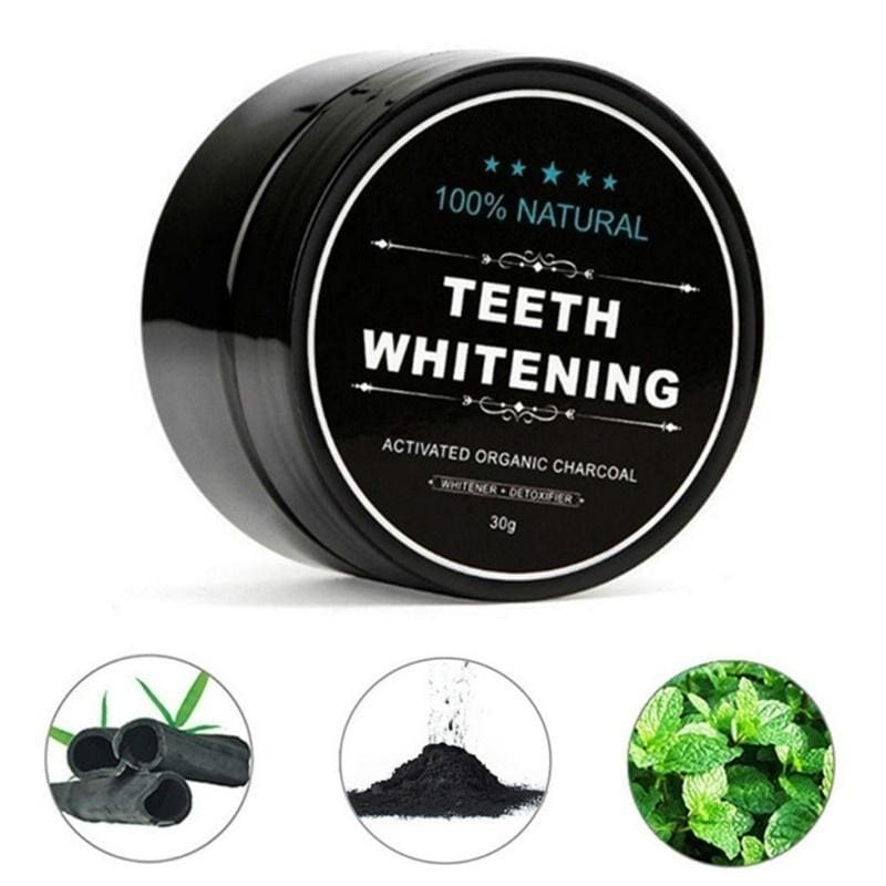 Yellow Teeth Nemesis Teeth Whitening Powder Natural Organic Activated Charcoal Bamboo Toothpaste Whitening toothpaste-Blanchissant la poudre dentaire-Dentifrice blanchissant