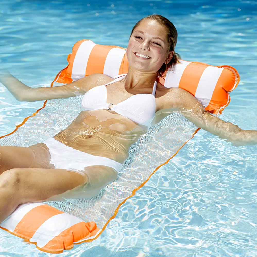 Inflatable lounger Water Floating Bed Pad Water Blanket  The Softest Water Float Mat