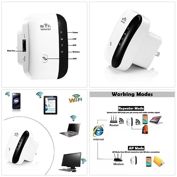 2019 New Ungrade 300M Wireless-N Wifi Repeater 2.4G AP Router Signal Booster Extender Amplifier