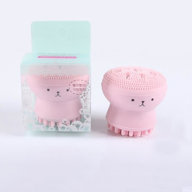 Face Cleaner Facial Brush Cute Octopus Spot Acne Blackhead Little Massage Soft Face Cleansers Silicone 1PCS Wash Brushes