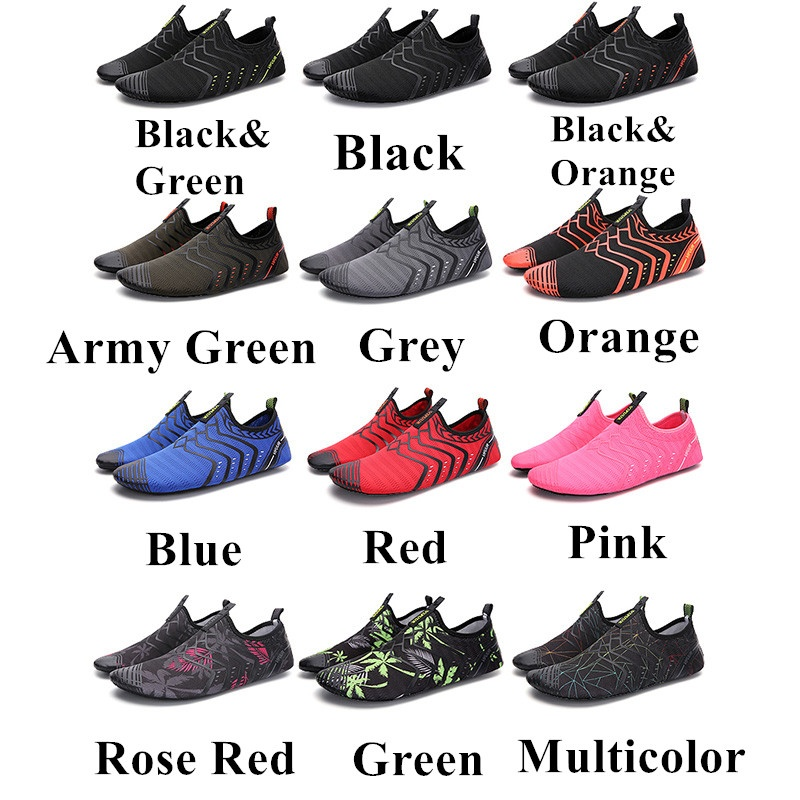 EILYEE Summer Fashion Large Size 35-46 Non-slip Quick-dry Breathable Beach Water Shoes Yoga Fitness Swimming Outdoor Sports Shoes For Women and Men 12 Colors