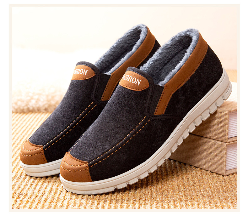 Family non-slip warm cotton shoes