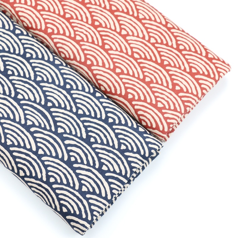 50cm*160cm Japanese Style Retro Wave Wave Printed Cotton Handmade DIY Cotton Mouth Gold Bag Sewing Cloth Decoration Cloth Printed Cloth DIY Handmade Tecidos Baby Bedding Tessuto Kids Bedding Curtain Pillow Quilt Tecido Sewing Material 1pcs/lot