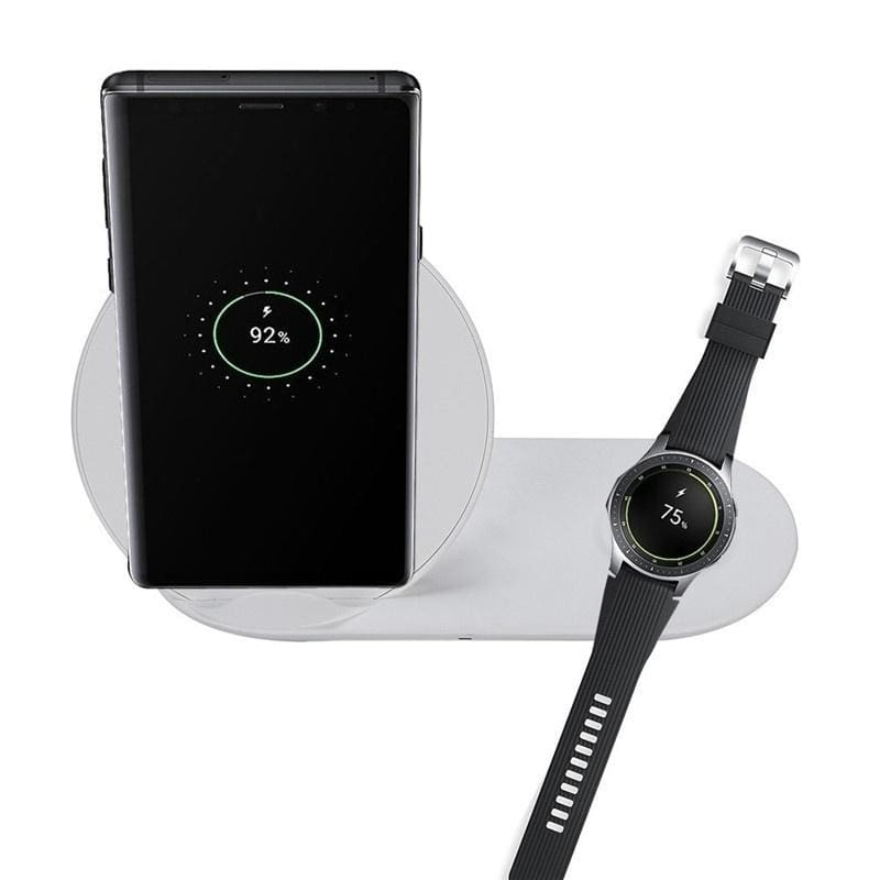 2 in 1 Fast Charging Wireless Charger Pad For Samsung Galaxy Note 10 S10 Watch S2/S3/42mm/46mm 9V 2A Quick-acting Charging For iWatch Charging Pad
