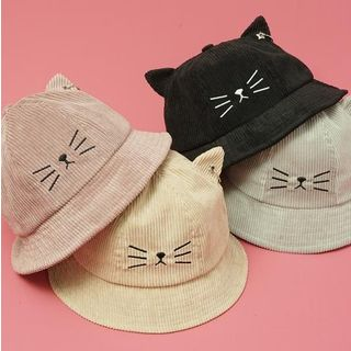 HARPY - Cat Ear Embroidered Bucket Hat
