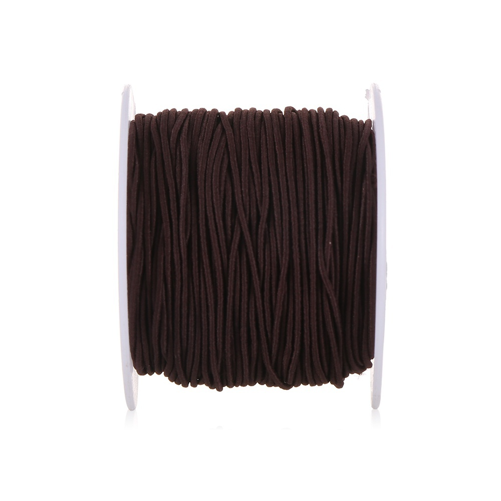 1mm 54yards/lot Black White Elastic Bands Sewing String Headband Ribbon Ear Hanging Rope Elastic Cords Stretchy Threads