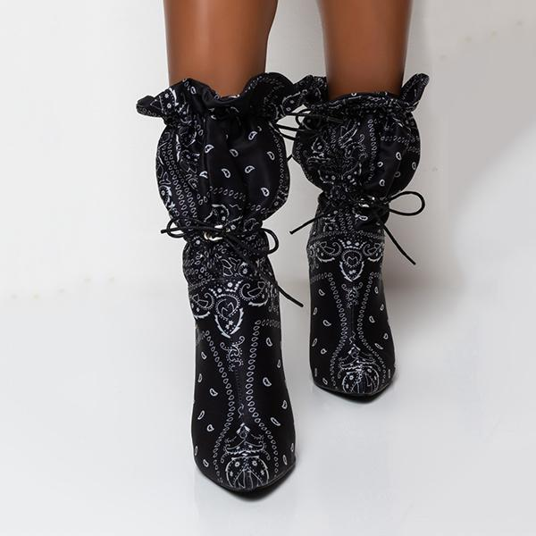 Bonnieshoes Pointy Toe High Heel Boots