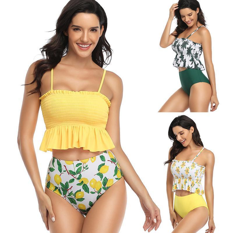 Printed Sexy Sling Two Piece Bathing Suits