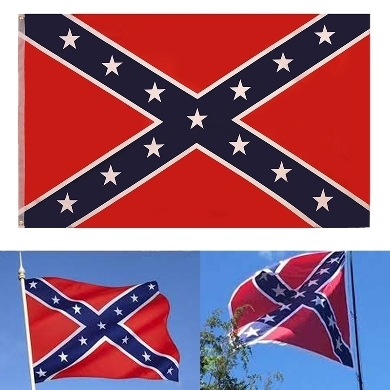 Old CSA Southern States Flag 3x5 ft Old Georgia State Polyester Flags Indoor/Outdoor