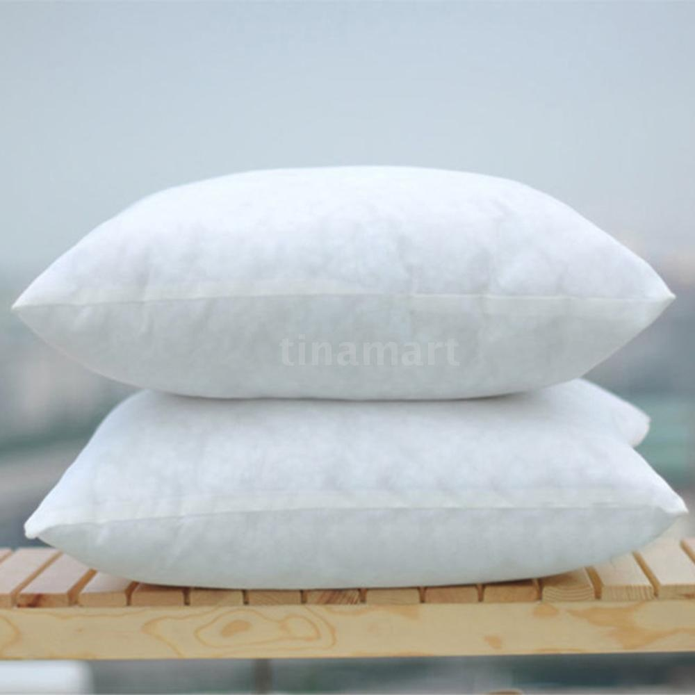 1/2/4 Pcs Foamily Premium Hypoallergenic Home Goods Stuffer Pillow Insert Sham Square Form Polyester 45X45CM Standard/White