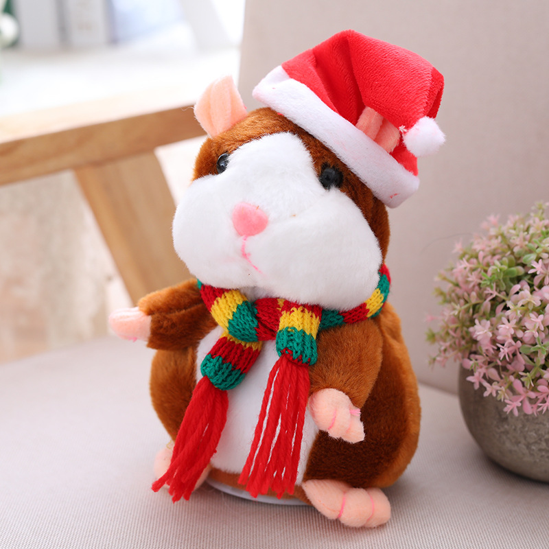 Mimicry Talking Hamster Pet Christmas Gift Plush Toy Speak Sound Record(two version)
