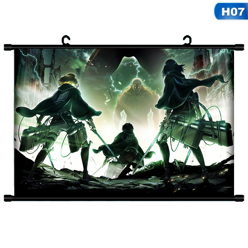 12 Styles 1pcs Fashion Funny Japanese Anime Attack On Titan Posters