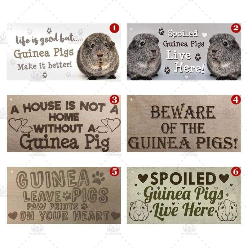10 Kinds of Guinea Pig Sign Plaque Sign Hanging Plaque Wooden Pet Lover Signs Gift Home Decoration 3.9'¡Ù7.8'