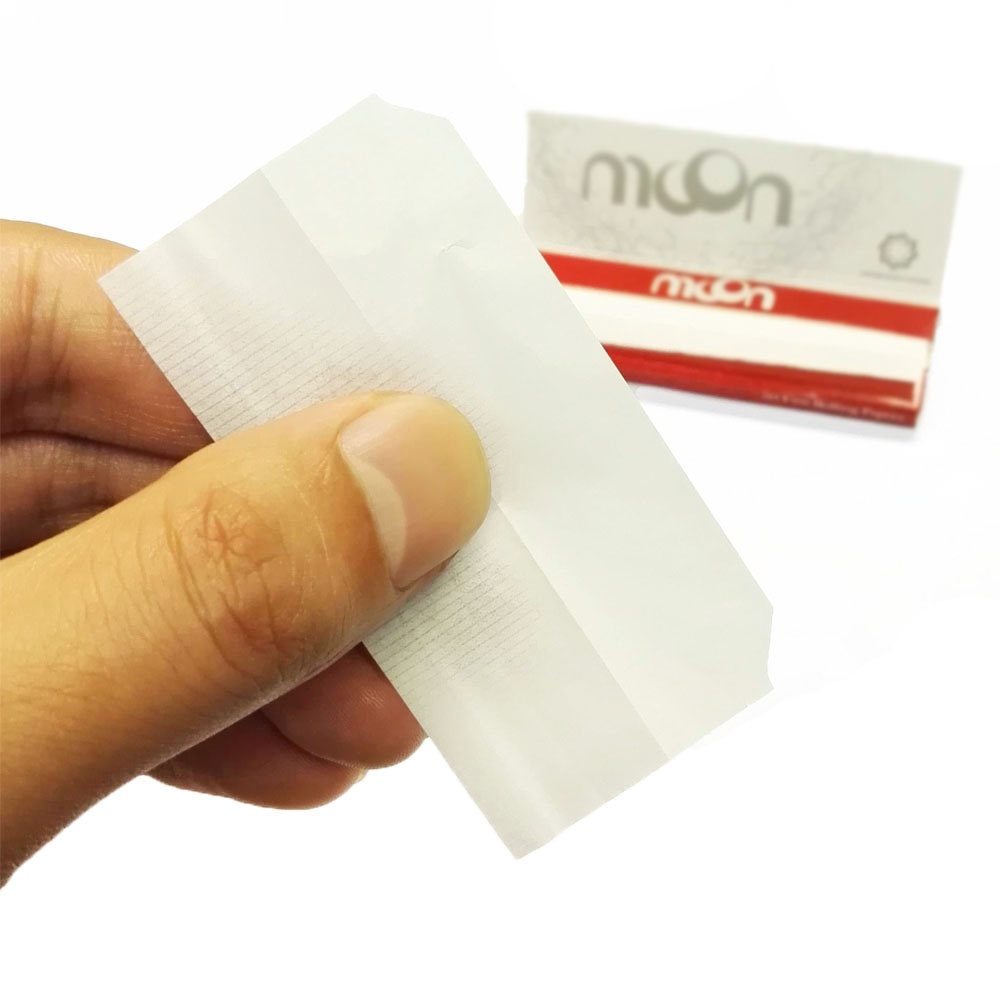 CUT CORNER - 1 Box 50 Booklets Moon Red Cigarette Tobacco Rolling Papers 70*36mm 2500 Leaves